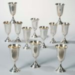 Set of Twelve Sterling Silver Gold-washed Wine Goblets, 20th century (Lot 1017, Estimate: $800-  1,200)