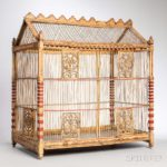 Paint Decorated Bird Cage (Estimate: $300-500)