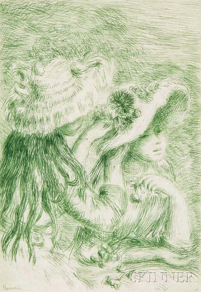 Pierre-Auguste Renoir (French, 1841-1919) Le chapeau épinglé - 3e planche, c. 1894 (Lot   16, Estimate: $5,000-7,000)