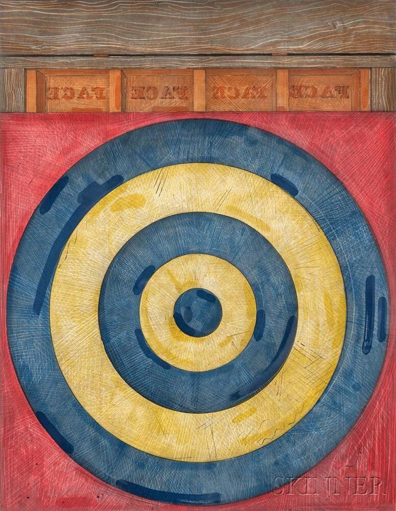 Jasper Johns (American, b. 1930) Target with Four Faces, 1979 (Lot 87, Estimate:  $15,000-25,000)