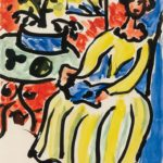 Henri Matisse (French, 1869-1954) Marie-José en robe jaune, 1950 (Lot 95, Estimate: $50,000-80,000)
