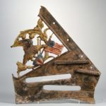 Cast Iron Paint-decorated Patriotic Architectural Fragment, America, late 19th century (Lot 1000, Estimate $20-200)