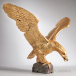 Large Carved and Gilt Spreadwing Eagle (Lot 25, Estimate $600-800)