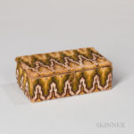Small Bargello-embroidered Box (Lot 128, Estimate $100-150)