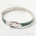 Steel and Enamel Collar, Gucci, Italy (Lot 1005, Estimate $400-600)