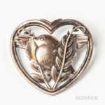 Georg Jensen & Wendel Sterling Silver Bird Brooch, no. 239 (Lot 1057, Estimate $100-150)