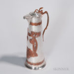 Art Nouveau Silver and Copper Wine Ewer (Lot 1716, Estimate $1,000-1,500)