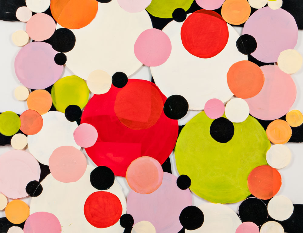 [DETAIL] Ellen Rich (American, 20th/21st Century) Painting  Dots and Spots (Estimate $500-700)