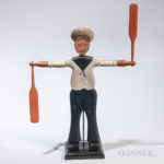 Carved and Painted Sailor Whirligig, America, late 19th century (Lot 1272, Estimate $600-800)
