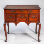 Carved Walnut Dressing Table, probably Massachusetts, c. 1730-50 (Lot 1469, Estimate $1,500-2,500)