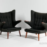 Hans Wegner Papa Bear Chairs (Lots 217 and 218, Estimate $6,000-8,000)