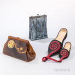 Two Judith Haverl Handbag Sculptures and a Shoe Sculpture (Lot 1608, Estimate $200-250)
