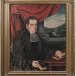 [Detail] Attributed to Erastus Salisbury Field, Pair of Portraits of the Reverend George Champlin Shepard and His Wife Sally Inman Kast Shepard (Lot 449, Estimate $10,000-15,000)