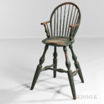 Blue/green-painted Windsor Highchair, probably New York, late 18th century (Lot 377, Estimate $20,000-25,000)