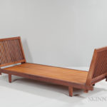 George Nakashima (1905-1990) Special Commission Daybed (Lot 278, Estimate $7,000-9,000)