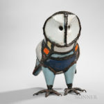 Bernard Melois (b. 1939) Owl (Hibou) Sculpture (Lot 376, Estimate $800-1,200)