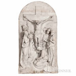 Set of Fourteen Carrara Marble Stations of the Cross Plaques, probably Joseph Sibbel Studios (Lot 589 selection 1 of 14, Estimate $20,000-40,000)