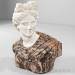 Italian Marble Bust of the Apollo Belvedere (Lot 648, Estimate $1,500-2,500)