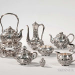 Extensive Japanese Silver Tea and Coffee Service, early 20th century (Lot 950, Estimate $8,000-12,000)