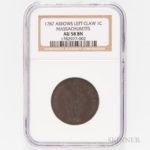 1787 Massachusetts Cent (Lot 1011, Estimate $1,000-2,000)