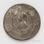 1800 Perkins White Metal Washington Funeral Urn Medal (Estimate $800-1,200)