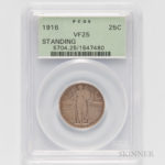 1916 Standing Liberty Quarter (Lot 1138, Estimate $5,000-7,000)