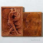 Two J.G. & J.F. Low Art Tile Works Art Pottery Tiles  Chelsea, Massachusetts (Lot 1692, Estimate $200-250)