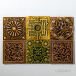 Six J. & J.G. Low Art Tile Co. Art Pottery Tiles  Chelsea, Massachusetts (Lot 1791, Estimate $500-600)