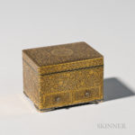 Gilt and Lacquered Komai Silver Box, Japan, 19th/20th century (Lot 356, Estimate $2,000-3,000)
