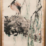 Painting Depicting a Heron, China (Lot 501, Estimate $800-1,200)