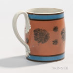 Mocha 'Seaweed' Decorated Pearlware Half-pint Mug, England, c. 1830 (Lot 33, Estimate $400-600)