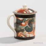 Pearlware Half-pint Mug with Cover, England, c. 1790 (Lot 9, Estimate $800-1,200)