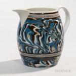 Slip Marbled Pearlware Jug, England, c. 1800 (Lot 7, Estimate $800-1,200)
