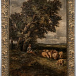 Continental School, 19th Century  Shepherd Resting with His Flock (Estimate $700-900)