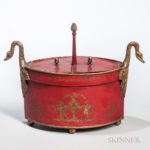 Tolware Condiment Box with Swan's Necks (Estimate $200-250)