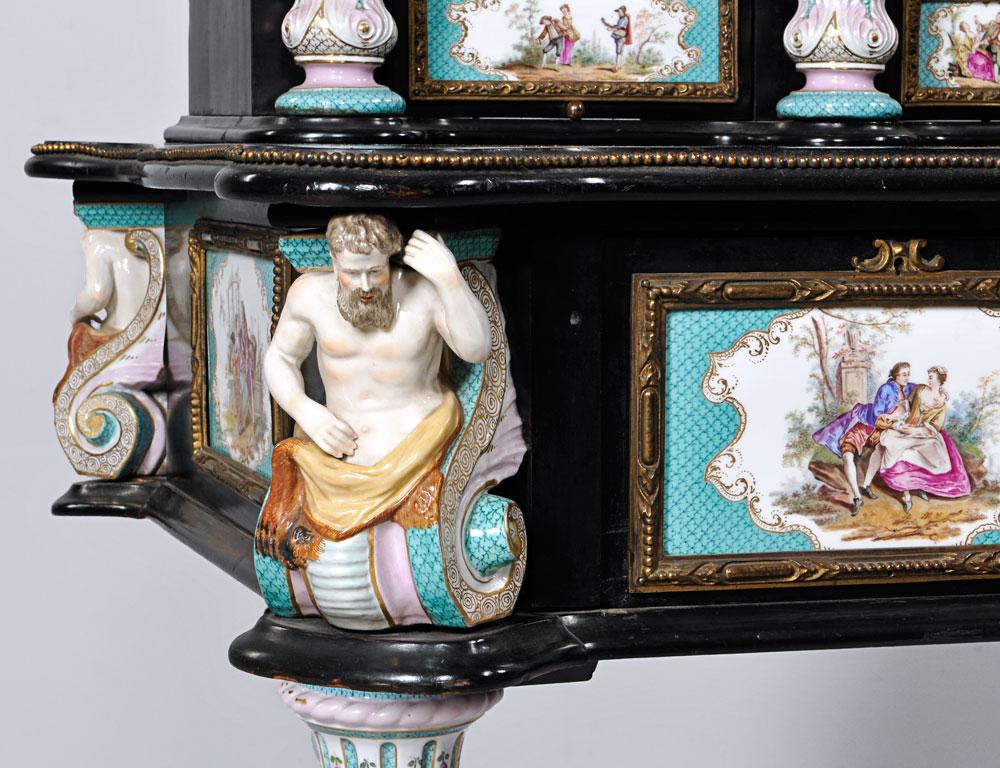 Meissen Porcelain Desk, late 19th century (Lot 587, Estimate $10,000-15,000)