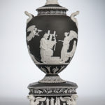 Wedgwood Black Jasper Dip Apotheosis of Homer Vase and Cover, England, 19th century (Lot 350, Estimate $1,500-2,500)