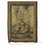 Aubusson Tapestry of The Fisherman's Surprise (Lot 663, Estimate $3,000-4,000)