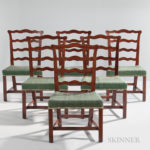 Set of Six Mahogany Dining Chairs, Portsmouth, New Hampshire, c. 1770 (Lot 105, Estimate $3,000-5,000)