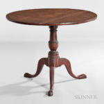Birch Tilt-top Tea Table, Newburyport, Massachusetts, c. 1790 (Lot 107, Estimate $5,000-7,000)