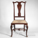Carved Tiger Maple Side Chair, attributed to William Savery, Philadelphia, Pennsylvania, c. 1760-85 (Lot 145, Estimate $3,000-5,000)