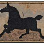 Hooked Rug with Black Horse, late 19th/early 20th century (Lot 186, Estimate $2,000-3,000)