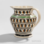 Pearlware Shouldered Jug, England, c. 1820 (Lot 1, Estimate $1,000-1,500)