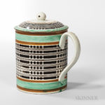 Pearlware Quart Mug and Cover, England, c. 1790 (Lot 21, Estimate $1,000-1,500)