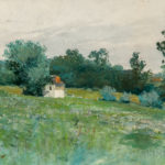 William T Thomson (Pennsylvania, b. 1858) Landscape of a Meadow (Estimate $300-500)