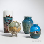 Small Group of Modern Art Glass (Estimate $200-300)