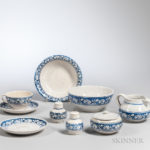 Thirty-one Pieces of Dedham Pottery Rabbit-decorated Tableware (Estimate $500-700)