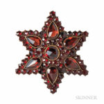 Garnet Star Brooch