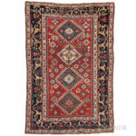 Kazak Rug, Caucasus, c. 1860 (Lot 152, Estimate $3,000-4,000)