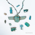 Nineteen Egyptian Faience Items (Lot 2039, Estimate $250-300)